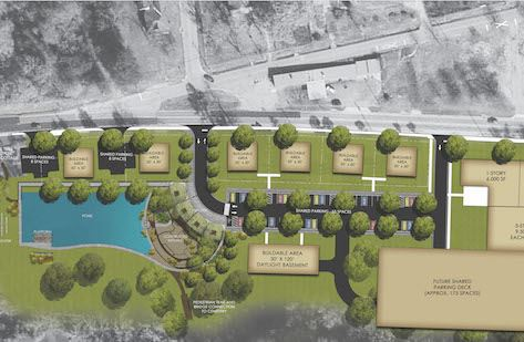 Site Plan for Tanyard Branch Redevelopment