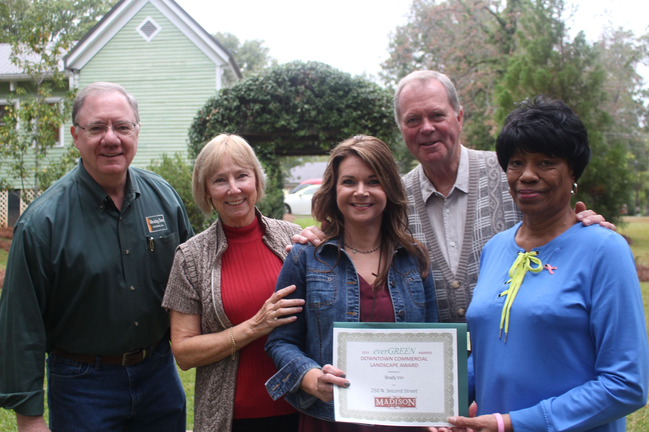 Brady Inn crew with Downtown Commercial  Landscape Award