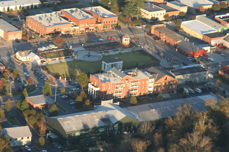Aerial View of Town Park - After