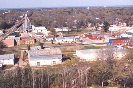 Aerial View of Town Park - Before